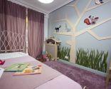 Habitación infantil inspirada en la naturaleza
