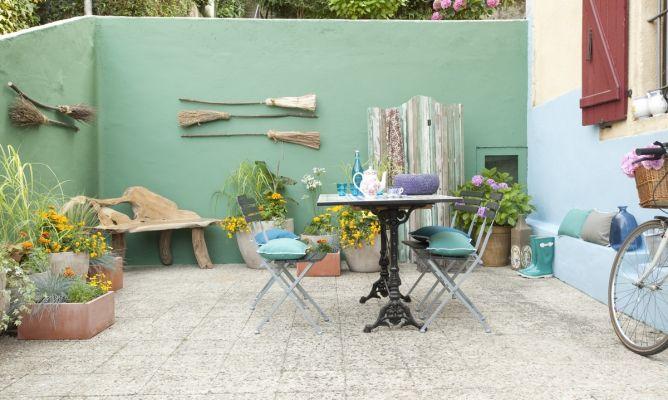Terraza fresca con estilo mediterr neo decogarden - Decoracion estilo mediterraneo ...