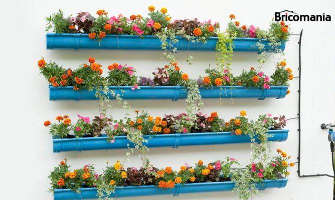 Convertir canalones en jardineras bricoman a - Como colocar un canalon ...