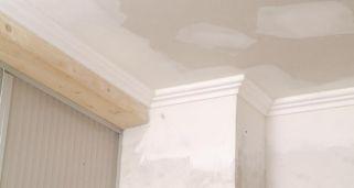 pintar techo de yeso laminado y molduras de