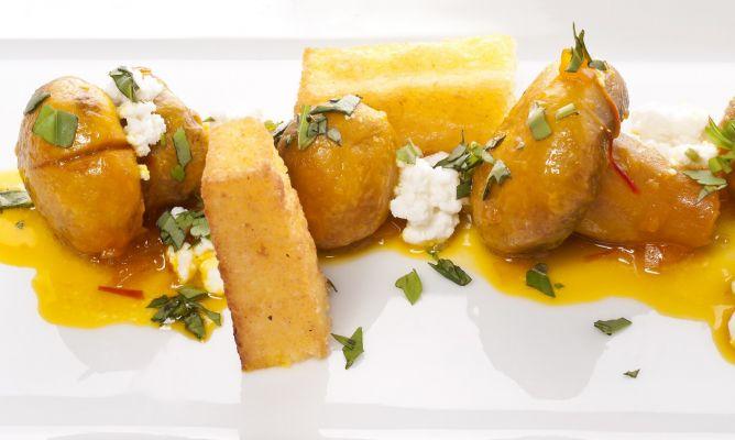 Receta de champi ones al azafr n con polenta bruno oteiza - Escuela de cocina azafran ...