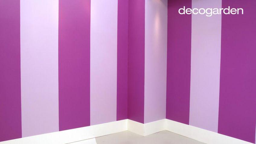 Cómo pintar la pared con líneas verticales   decogarden