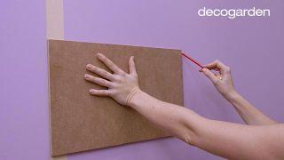 Cómo pintar la pared con líneas verticales - Paso 3