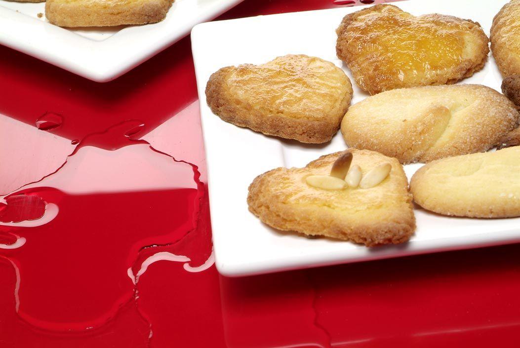 25 postres y tartas para triunfar en San Valentín - Galletas con forma de corazón