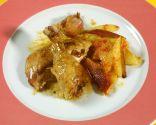 Receta de Pollo asado a la olla con patatas fritas