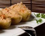 Patatas asadas rellenas en el microondas