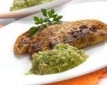 Empanadillas de bacalao con guacamole