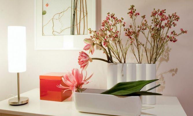 Composici n con flores artificiales decogarden - Jarrones flores artificiales ...