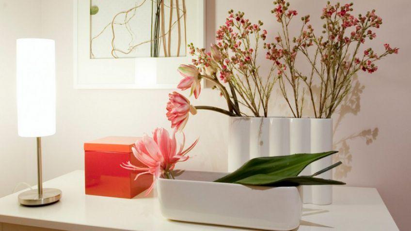 Composicin con flores artificiales Decogarden