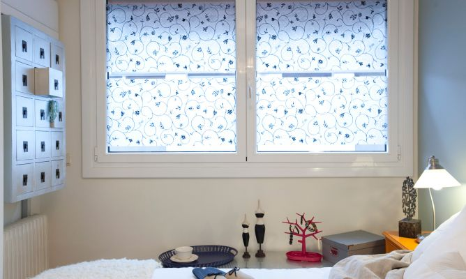 L minas auto adherentes para ventanas hogarmania - Vinilos translucidos para cristales ...