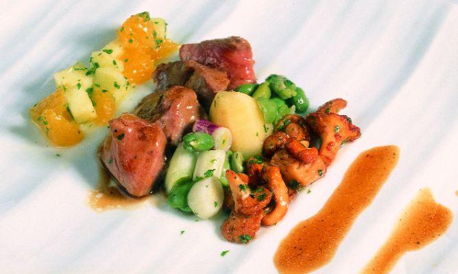 Receta de menestra primaveral de cordero con frutas - Menestra de verduras en texturas ...