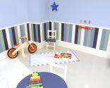 Decorar zona de juegos en habitación infantil