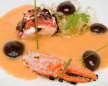 Gazpacho de bogavante y aceitunas negras