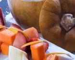 Fondue de calabaza con chocolate y fruta