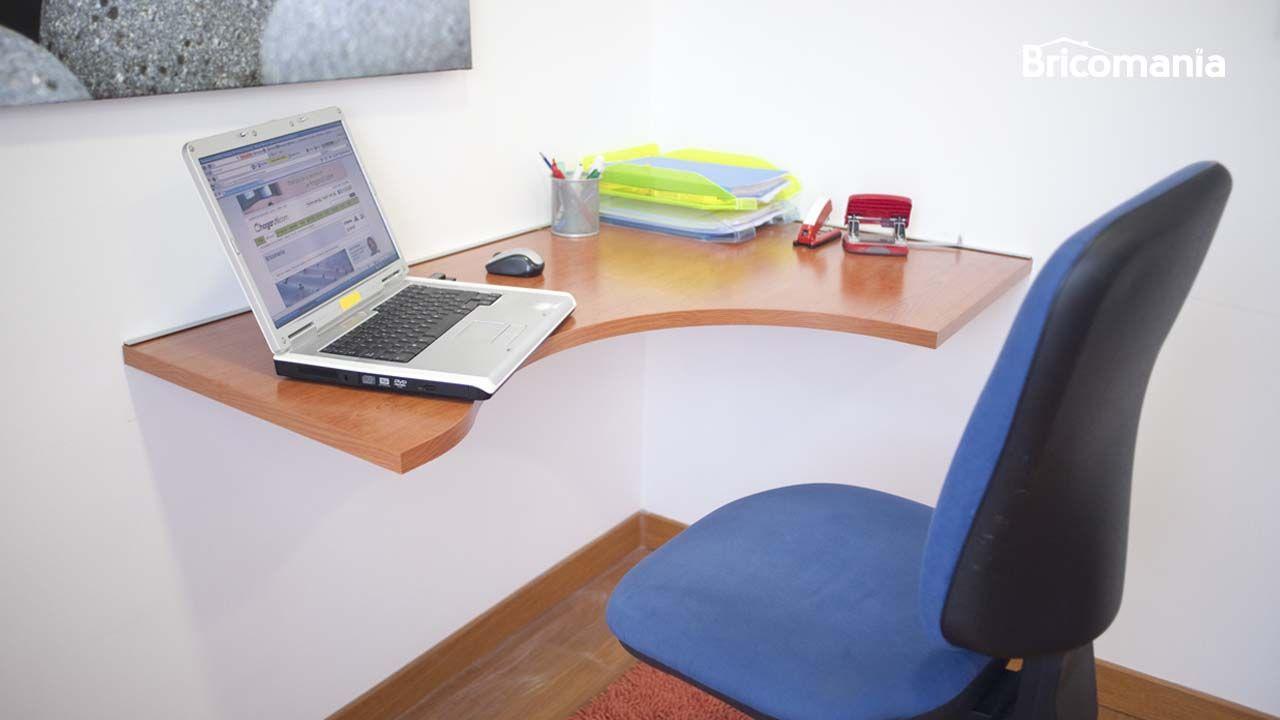 Fijar escritorio a la pared