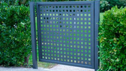 Construir un p rtico bricoman a for Puertas metalicas exterior baratas