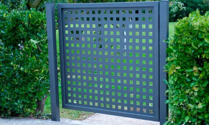 Puerta cancela met lica bricoman a - Puertas metalicas jardin ...