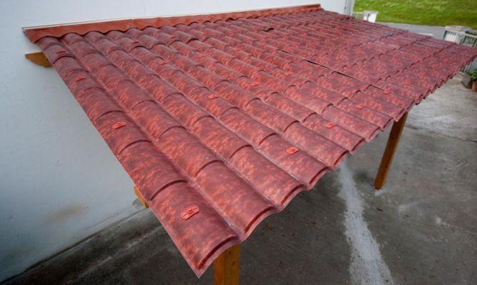 Cubierta para p rgola bricoman a for Tejados de madera con tela asfaltica