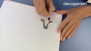 Cómo hacer un cabecero con una secuencia de cuadros... ¡pintando pájaros! - Paso 2