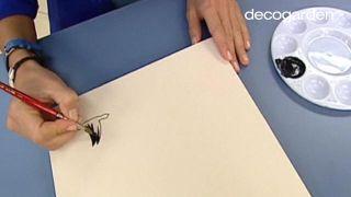 Cómo hacer un cabecero con una secuencia de cuadros... ¡pintando pájaros! - Paso 5