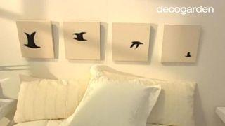Cómo hacer un cabecero con una secuencia de cuadros... ¡pintando pájaros! - Paso 6