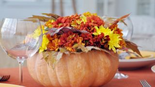 Centros de flores para una fiesta de Halloween
