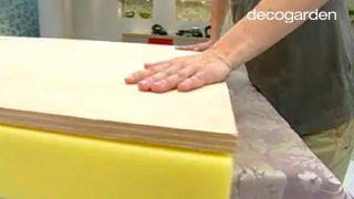 Cómo hacer un cabecero tapizado con tela - Paso 2