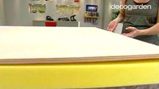 Cómo hacer un cabecero tapizado con tela - Paso 3