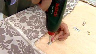 Cómo hacer un cabecero tapizado con tela - Paso 7