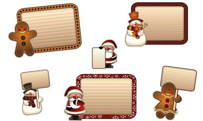Etiquetas navide as para personalizar tus regalos hogarmania - Etiquetas para regalos para imprimir ...