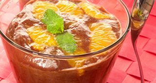 Mousse de chocolate con mandarina