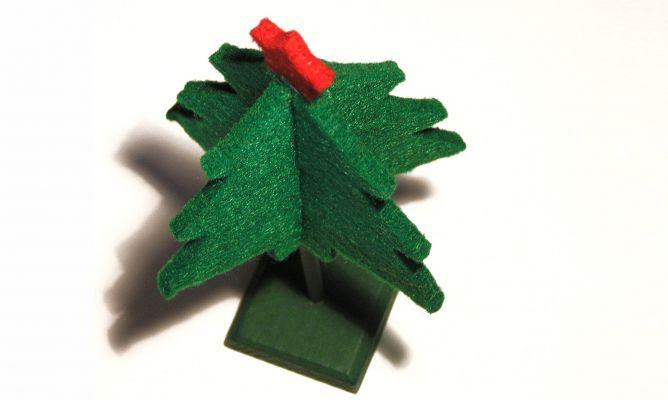 Rbol de navidad de fieltro hogarmania - Arbol de fieltro ...