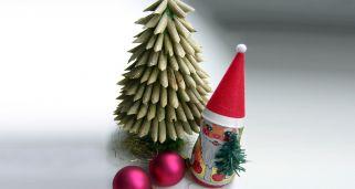 Como hacer un arbol de navidad con espuma de jabon