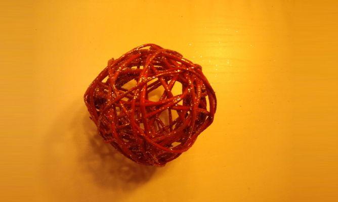 bolas de cuerda para navidad