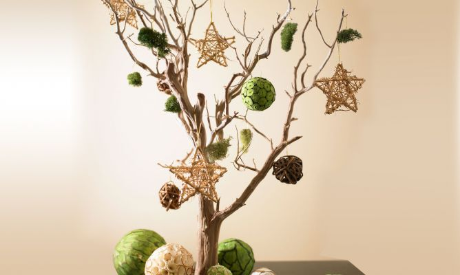 Arbol De Navidad Con Ramas Hogarmania - Ramas-de-arboles-para-decoracion