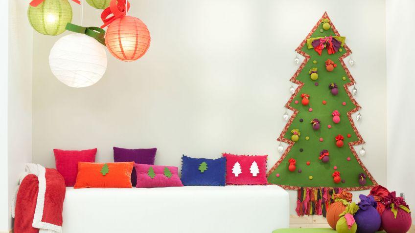 cmo hacer un rbol navideo para la pared decogarden - Arbol De Navidad De Tela