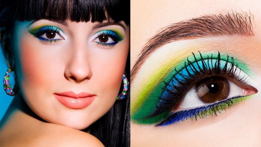 Maquillaje de ojos tropical - Look
