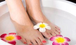 baño relajante pies