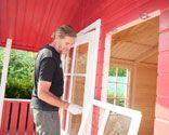 Paso 23 Pintar caseta de madera