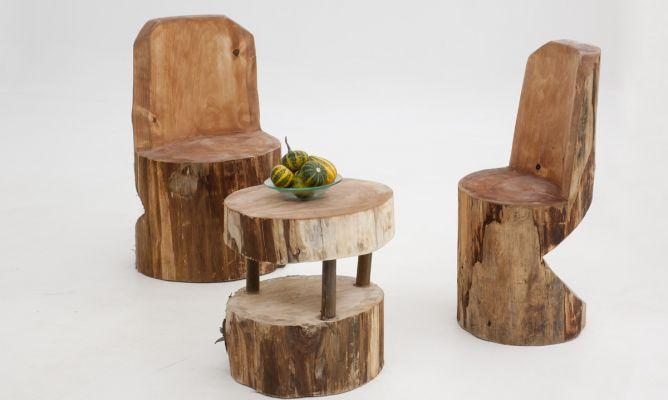 C mo crear una silla con un tronco de madera bricoman a for Muebles bricomania