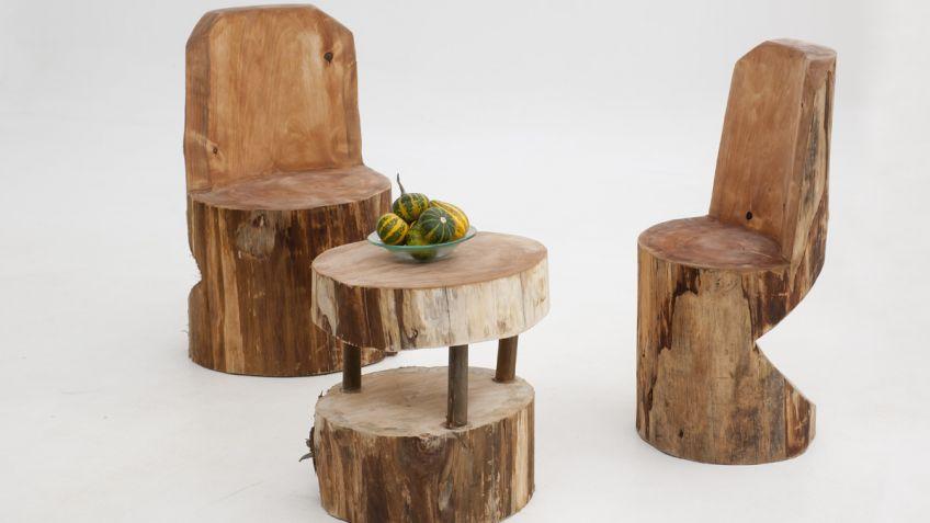 Fantástico Muebles De Asiento Tronco De árbol Friso - Muebles Para ...