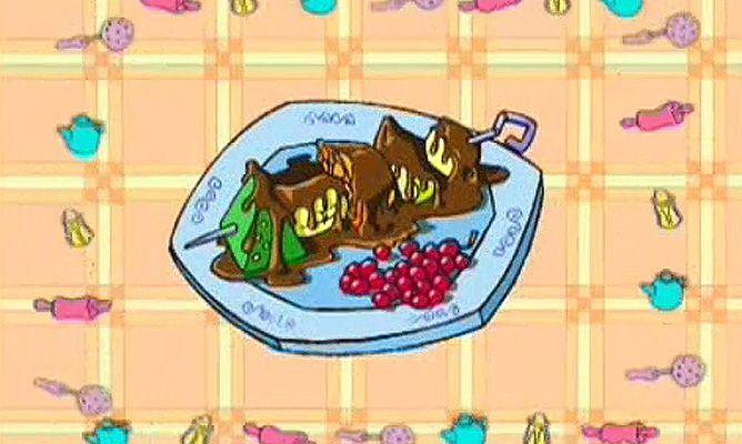 Receta de brocheta de frutas con chocolate la cocina for Cocina divertida para ninos