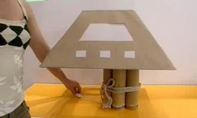 L mpara de estilo natural hogarmania - Como hacer una lampara de mesa ...