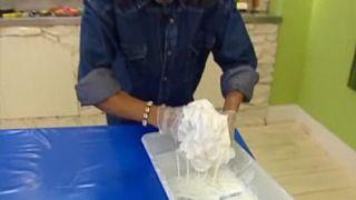 Cómo hacer una lámpara de tela - Paso 3