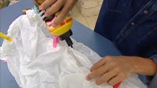 Cómo hacer una lámpara de tela - Paso 6