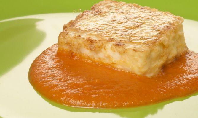 Receta de leche frita de merluza con salsa de tomate bruno oteiza - Cocinar merluza en salsa ...