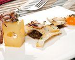Receta de Chipirones a la plancha con patata ahumada