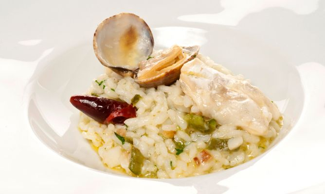 Receta de arroz con bacalao y almejas bruno oteiza - Arroz con bacalao desmigado ...