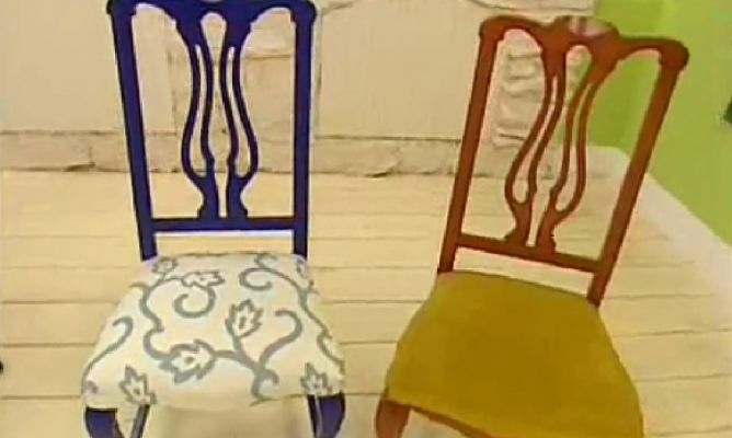 Renovar y tapizar sillas de madera hogarmania - Grapadoras para tapizar ...