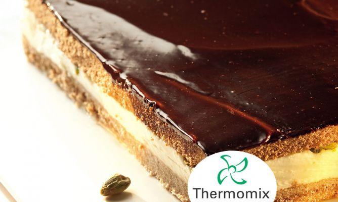 Receta De Tarta De Chocolate Y Queso Con Pistachos Para Thermomix Hogarmania